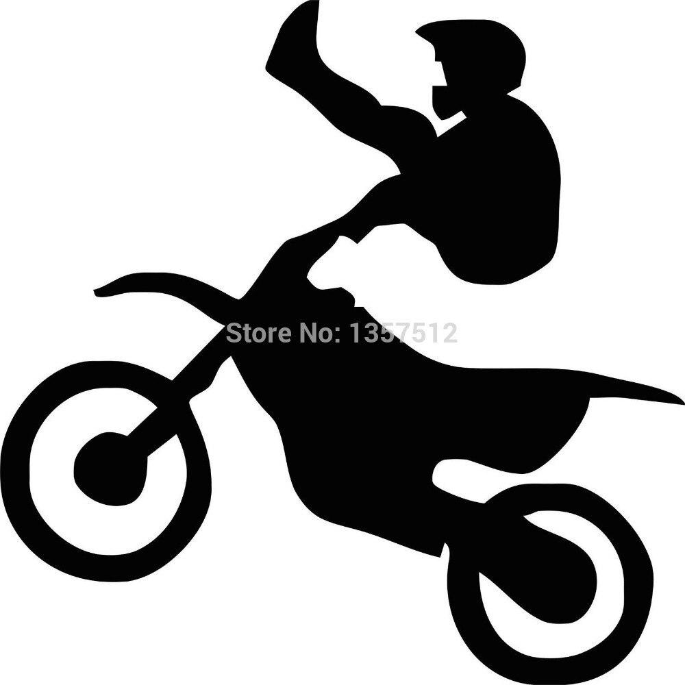 Hot Sale Motorcycle Tricks Car Window Sticker For Truck Bumper Auto SUV Door Kayak Vinyl Decal 8 Colors