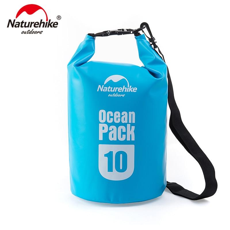 NatureHike 5L 10L Ocean Pack Outdoor Waterproof Bag Ultralight For Driftage Camping Swimming Travel FS15M010-J