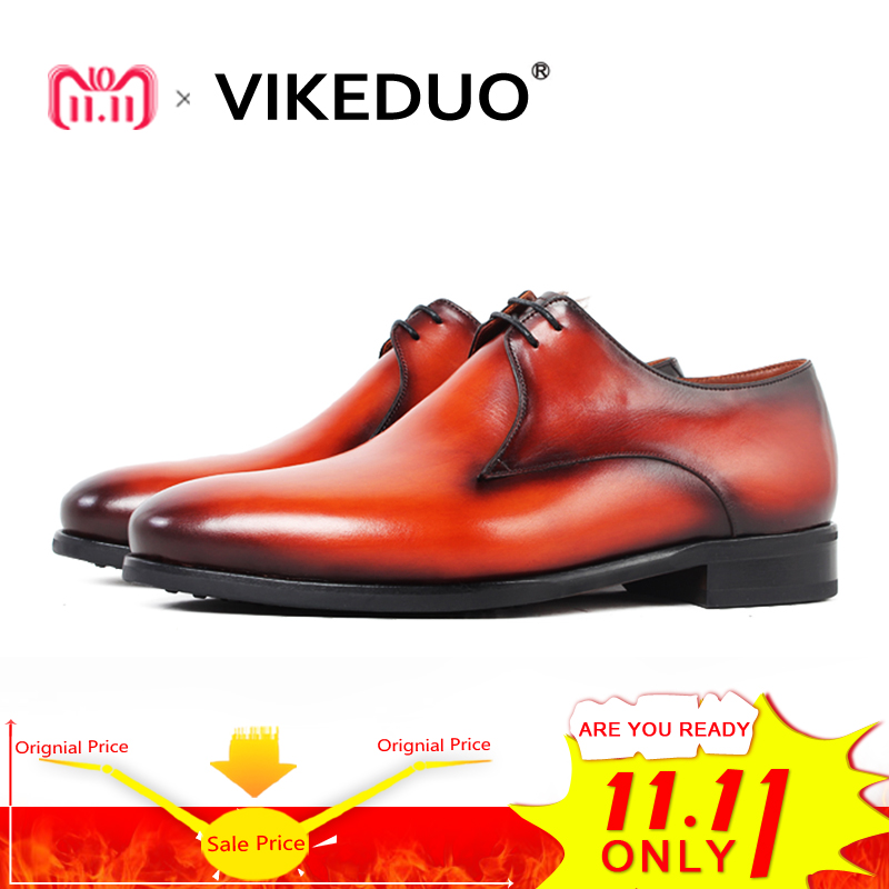 Vikeduo 2018 Handmade Fluff Snow Shoe Luxury Wedding Party Lace-up Designer Dress Shoe Male Genuine Leather Mens Derby Shoes new arrival mens fashion wedding party dress genuine leather derby shoes breathable lace up oxfords shoe crocodile pattern male