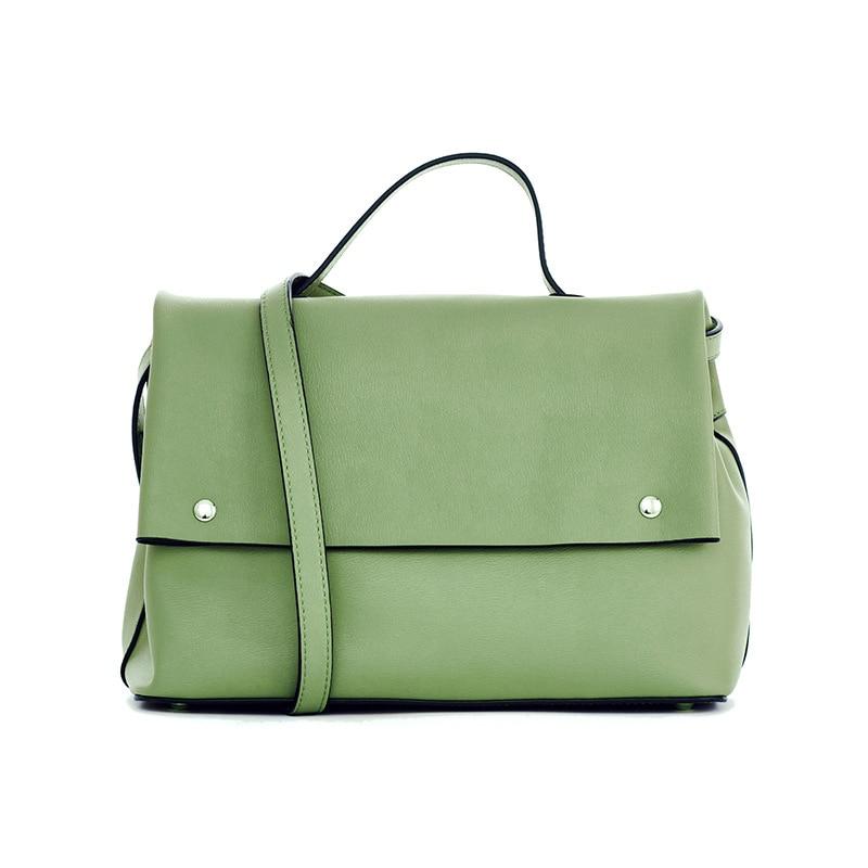LOEIL Solid color handbag leather shoulder diagonal handbag simple commuter big bag leather small square bag pink solid color off shoulder crop bodycon sweaters vests