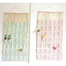 Super Large 42 Pockets Wall Hanging Bags Storage Bag Cotton Fabric Hanging Organizers Debris Storage Bag