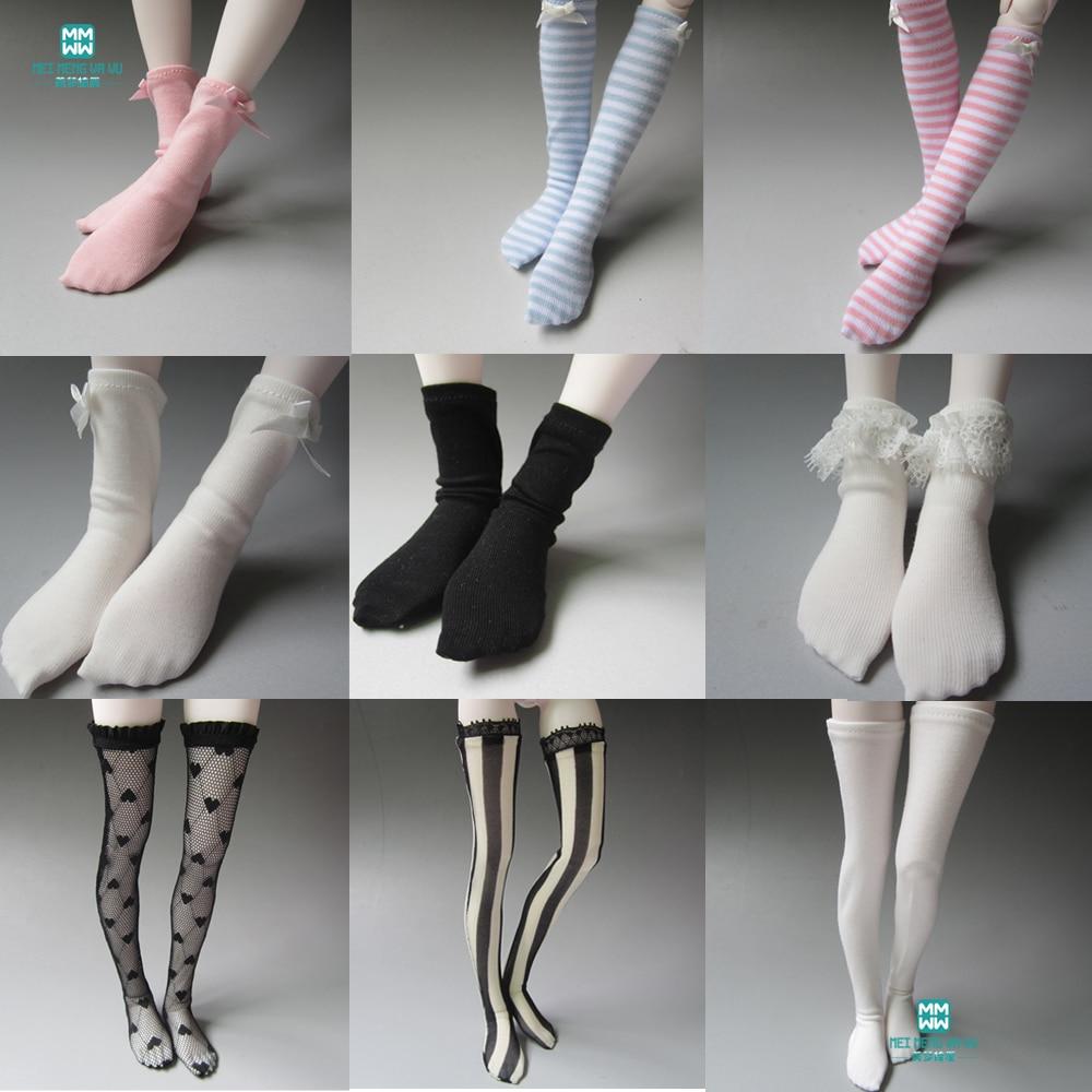 White Knee-High stocking Socks Knee socks Clothes YOSD 1//6 BJD Dollfie