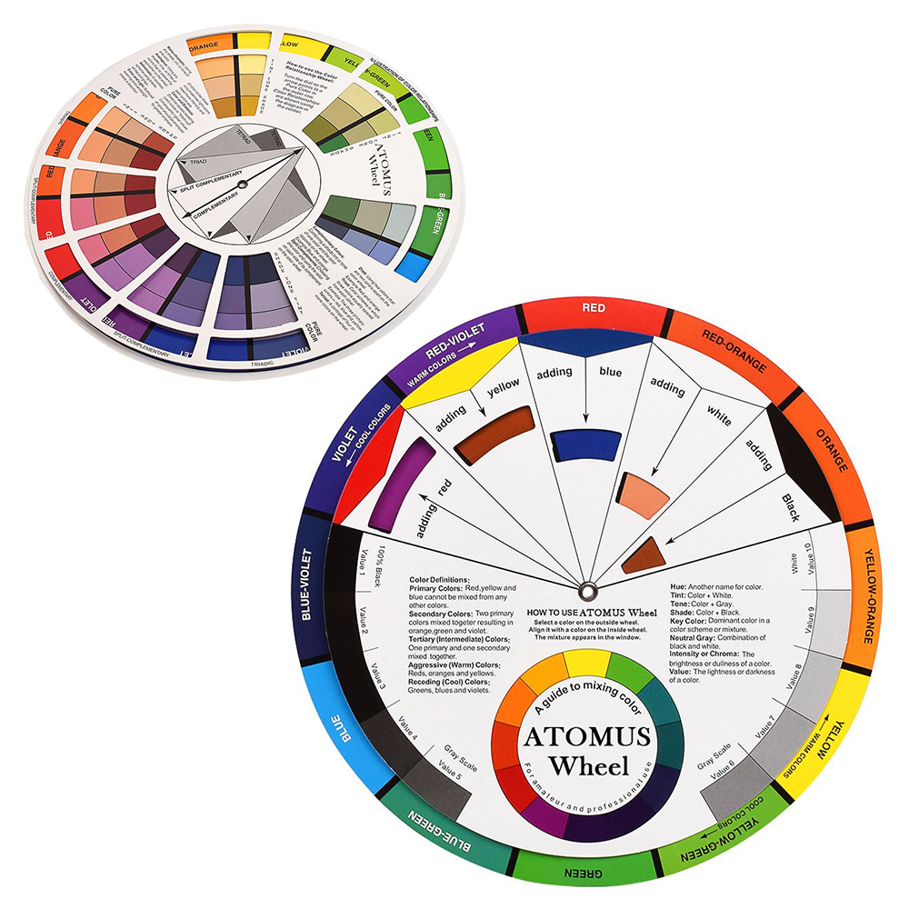 1pc Tattoo Ink Color Wheel Chart Tattoo Permanent Makeup Accessories