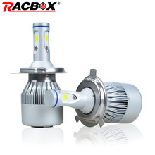 RACBOX 9005 9006 Car LED Headlight Bulb Lamp Globe HB3 HB4 3 Sides LEDs 90W 9000LM 12V 24V Auto Headlamp Lamp 6000K Cool White(China)