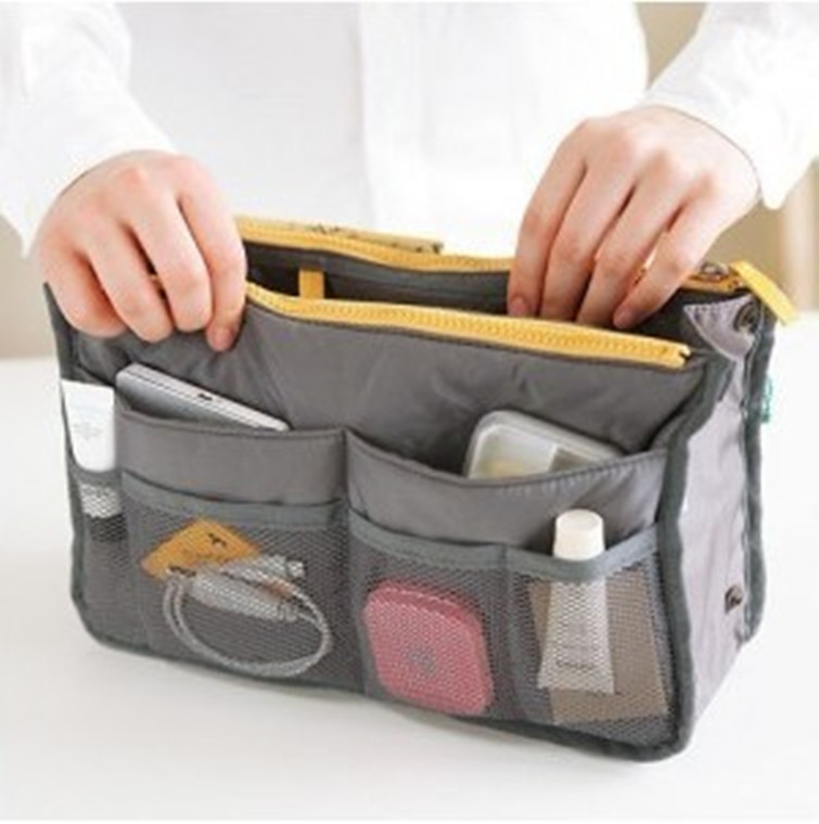 Organizer Insert Bag Women Nylon Travel Insert  Handbag Lady Makeup Purse Large Liner Lady Makeup Cosmetic Bag Cheap Female Tote