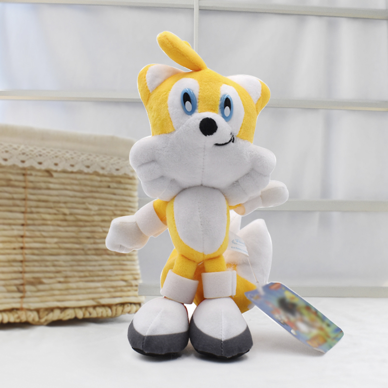 20cm Yellow Sonic Plush Toys Cartoon Anime Peluche Soft Stuffed Dolls For Children Gift For Kids Free Shipping недорго, оригинальная цена