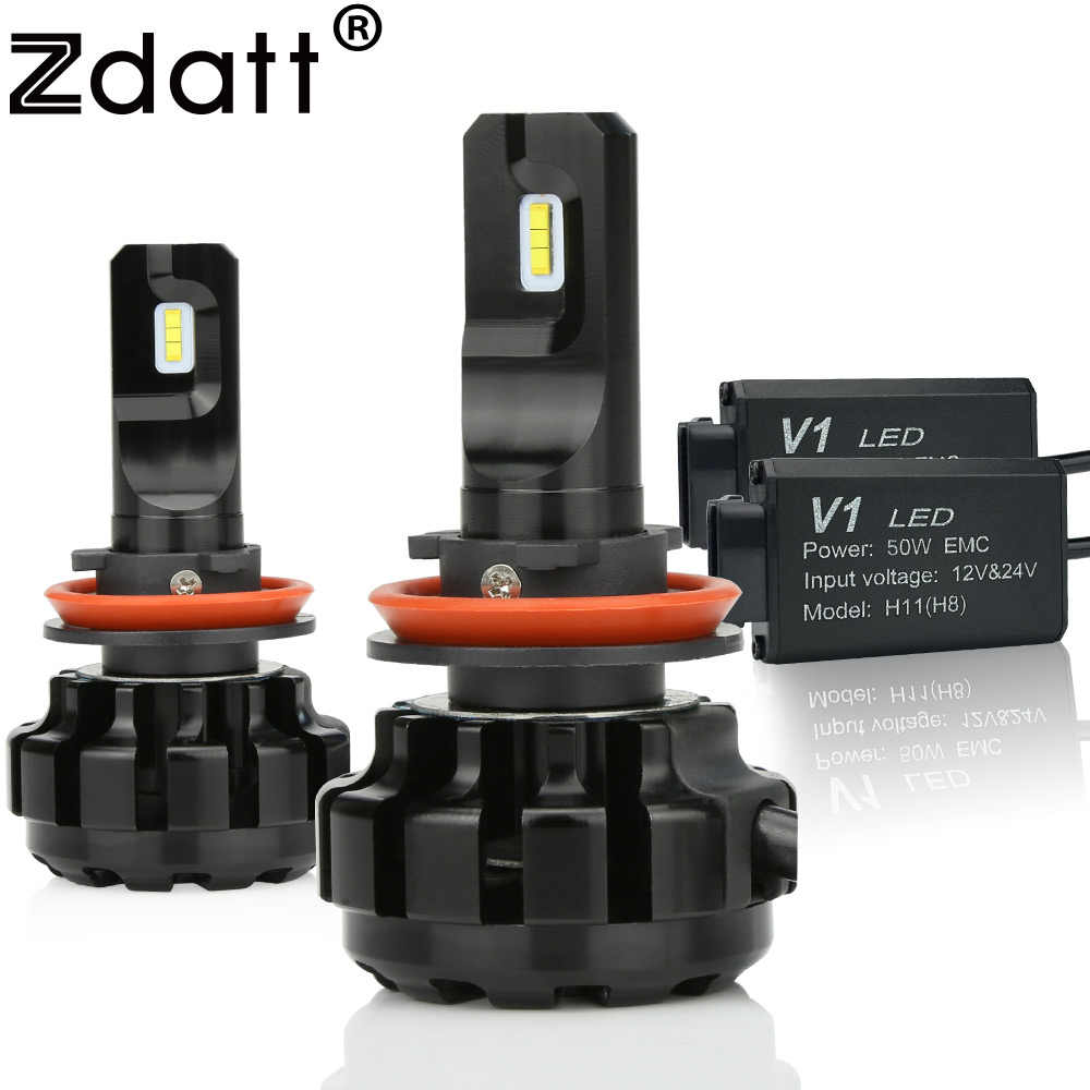 Zdatt 2Pcs H11 Led Headlights H8 H9 Canbus Lamp 100W 12000Lm Super bright Car Led Light 12V Auto Lamp Automobiles Headlamp 6000K