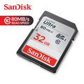 SanDisk carte mémoire Ultra SDHC carte SD 32GB C10 UHS-I 80 mo/s vitesse de lecture pour caméscope (SDSDUNC-032G-ZN6IN)