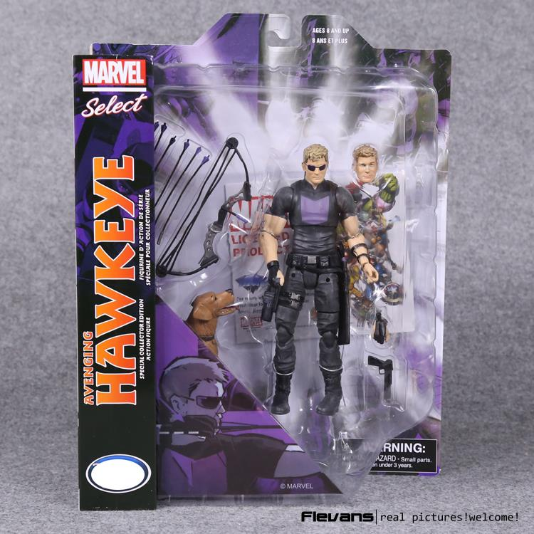 Marvel Select Hawkeye PVC Action Figure Collectible Model Toy 7 18cm original marvel comics superhero ares pvc action figure collectible model toy 7inch 18cm