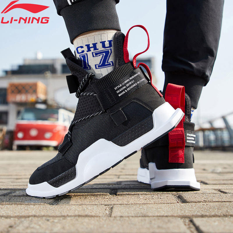Li-ning unisexe REBURN WS basket-ball loisirs chaussures portable haute coupe chine doublure Sport chaussures baskets AGBP028 XYL233