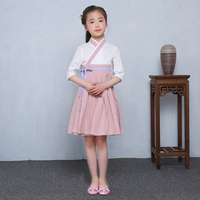 New Children S Hanfu Female Cotton China Wind Country Learning Clothes Girl Guzheng Costumes Spring And