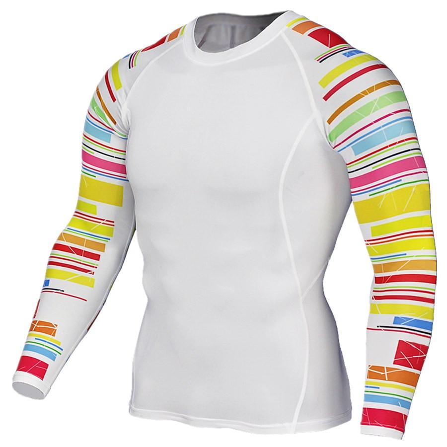 Men's Bodybuilding 3D Printed Long Sleeves T-Shirts