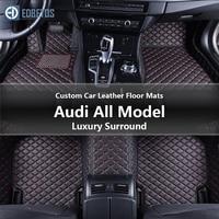 Custom Car Leather Floor Mats for Audi 80 Audi All Models 80 80 Quattro 90 90 Quattro Luxury Surround Wire Floor Mat 1990 1992