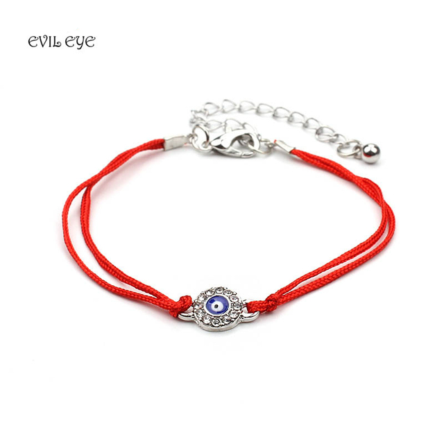 Evil Eye Fashion Turkish Blue Charm Bracelet Men Red Black Double Rope Lucky Bracelets