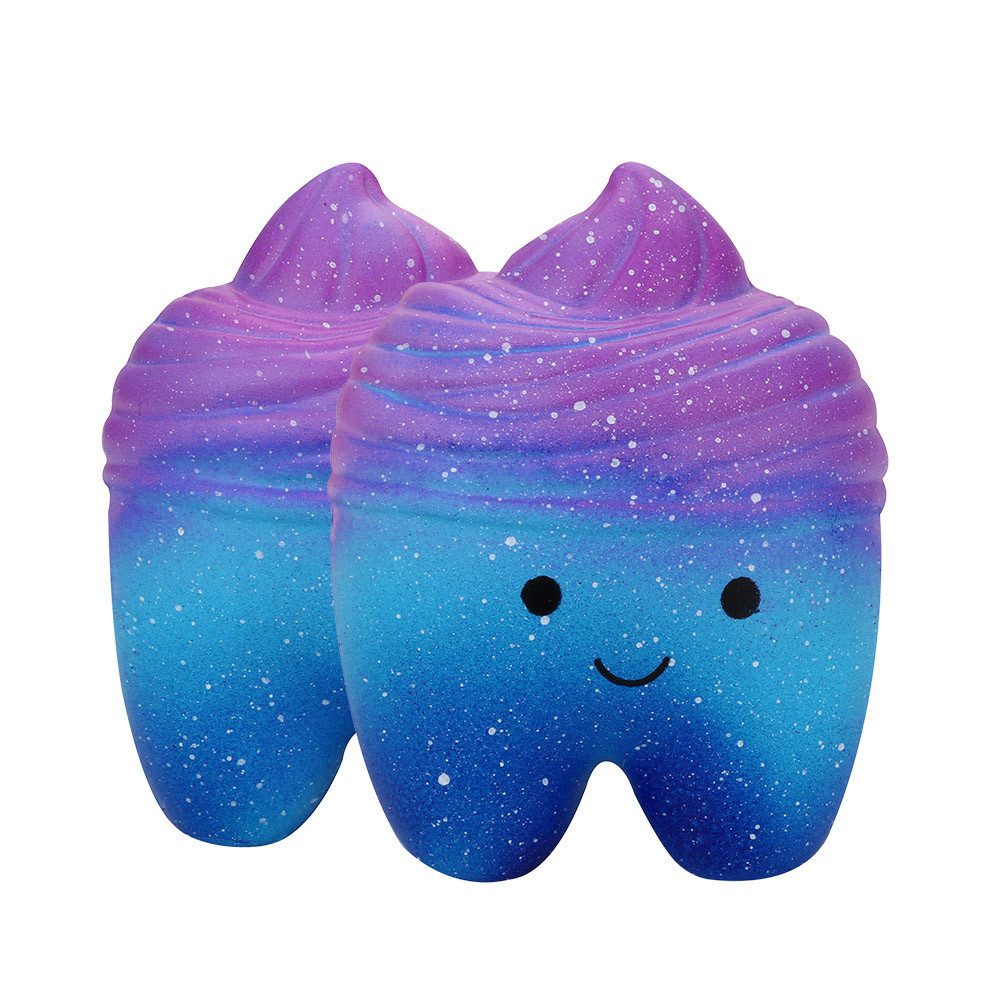 Squeeze Toys 10cm Galaxy Teeth Cake Scented Squishies Slow Rising Collection Antistress Cheap Slimes Kawaii Squishy Pack  6.17