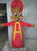 Red hat kostiumy chipmunk maskotki kostium nowy alvin