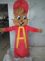 red hat chipmunk mascot costume new alvin costumes