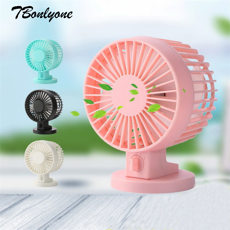 TBonlyone USB Fan Adjustable 2 Speed Noiseless For Students Office Outdoor Travel Table Electric Cooling Portable Mini Usb Fan