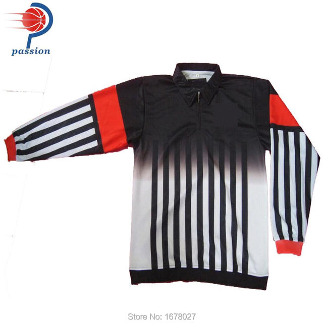 Standard Black Orange Hockey Referee Shirts With Ribbing Cuffs-in ... dce3825907b