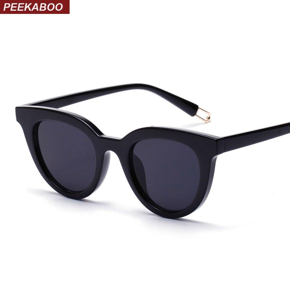 cd54a4a982 Peekaboo black cat eye sunglasses classic designer women retro cat eye sun  glasses for women men white red uv400