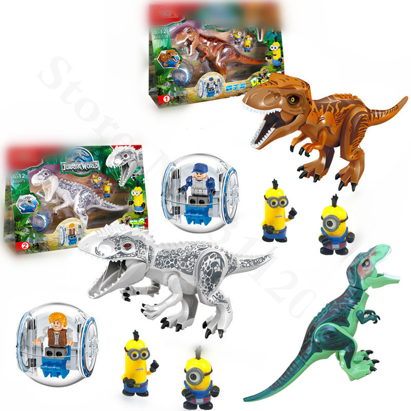 Jurassic Dinosaur Building Blocks Tyrannosaurus Dinosaur Action Figures Bricks Toys Compatible With Lego Dinosaur XD263 arte lamp teapot a6380ap 1ab