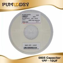 4000pcs 0805 smd capacitor ceramic 1PF-10UF 20PF 100PF 10NF 220NF 4.7PF 1NF 33NF 1UF 220PF 2.2NF 47NF 2.2UF 47PF 330P 4.7NF цена
