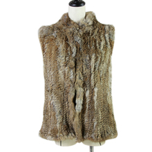 new women fashion warm fur vests rabbit hair coat with a variety of color optional khaki black grey customized size