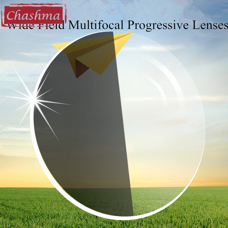 Chashma 1.67 Index Photochromique Verifocal Anti Réfléchissant UV400 Multifocale Transition Progressive Lentilles