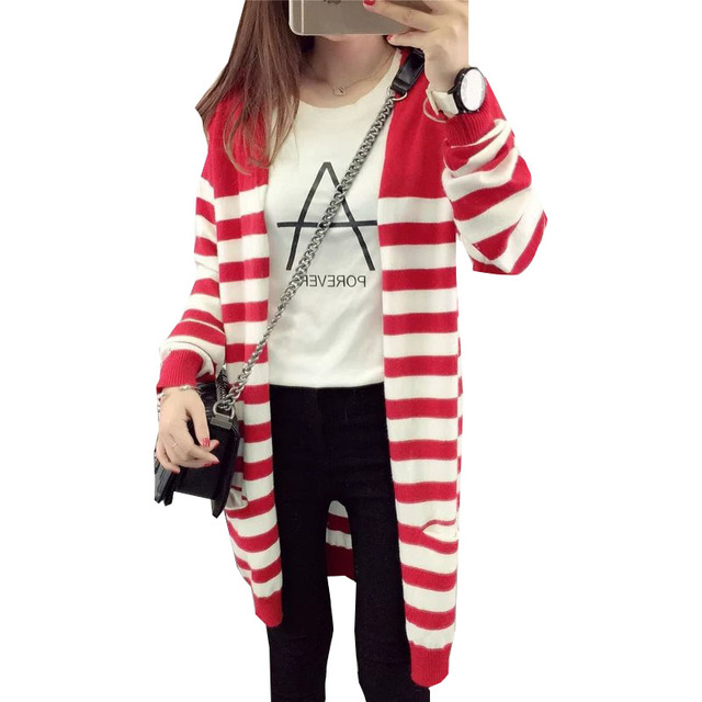 Aliexpress.com : Buy 2017 sweater women red white stripes loose ...