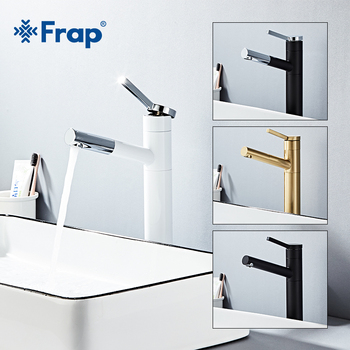 Frap Basin Faucet Single Handle Mixer Tap Deck Mounted  Pull Out Bathroom Waterfall Faucet Sink  Hot & Cold Mixer Tap Y10187