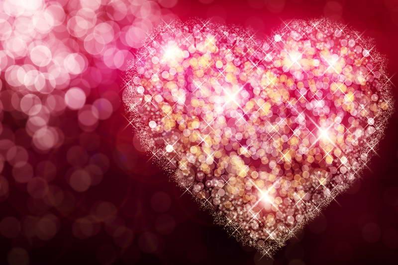 300*200cm(6.5*5ft)  Warm Romantic Valentine's Day Backdrops Fantasy Love Sparkling Aura Wedding Photo Backgrounds
