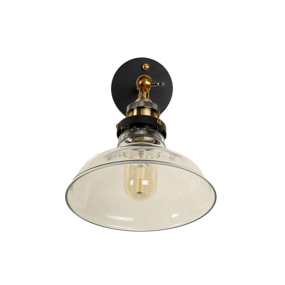 Classical E27 Wall Lamps Sconces Living Room Iron Glass Restaurant Bedroom Decorative Wall Lights Lamparas Home Lighting Fixture sconces chinese style wall lamps reading lights fixture decorative night light for pathway staircase bedroom lamp fixtures