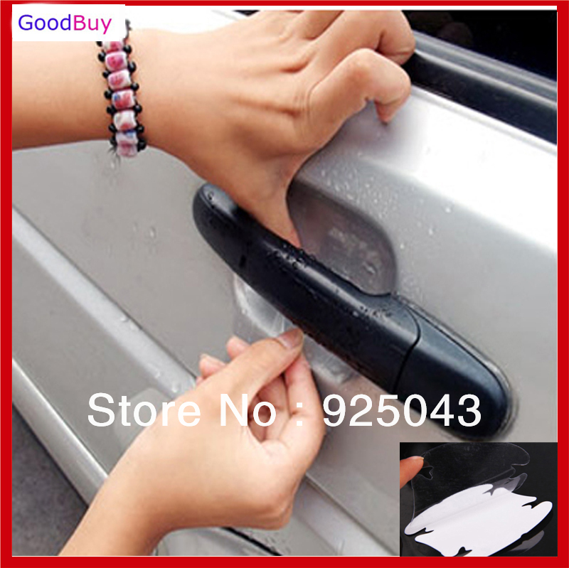 hot selling universal 20pcs car door handle scratch guard protector film car handle paint. Black Bedroom Furniture Sets. Home Design Ideas