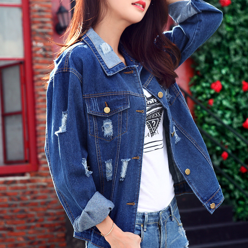 High Quality Ladies Fitted Denim Jacket-Buy Cheap Ladies Fitted ...