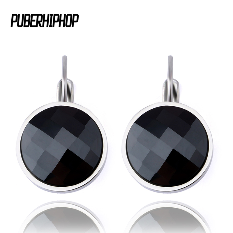 2017 New Design Black White Silver Color Big Round Ceramic Stud Earrings for Women Fashion Earring Jewelry Wedding Accessories four color round stud earring set 4pair