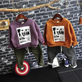 2017 Nuevo Diseño de Otoño E Invierno Bebé Suéter Suéteres Mantener Caliente Con Carácter Engrosamiento de Terciopelo Niños Ropa de Manga Larga