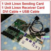Linsn 801/802制御システム1送信カードsd801d/sd802D + 1受け取るカードrv801d/RV908D + hub75カード+ dviケーブル、usbケーブル