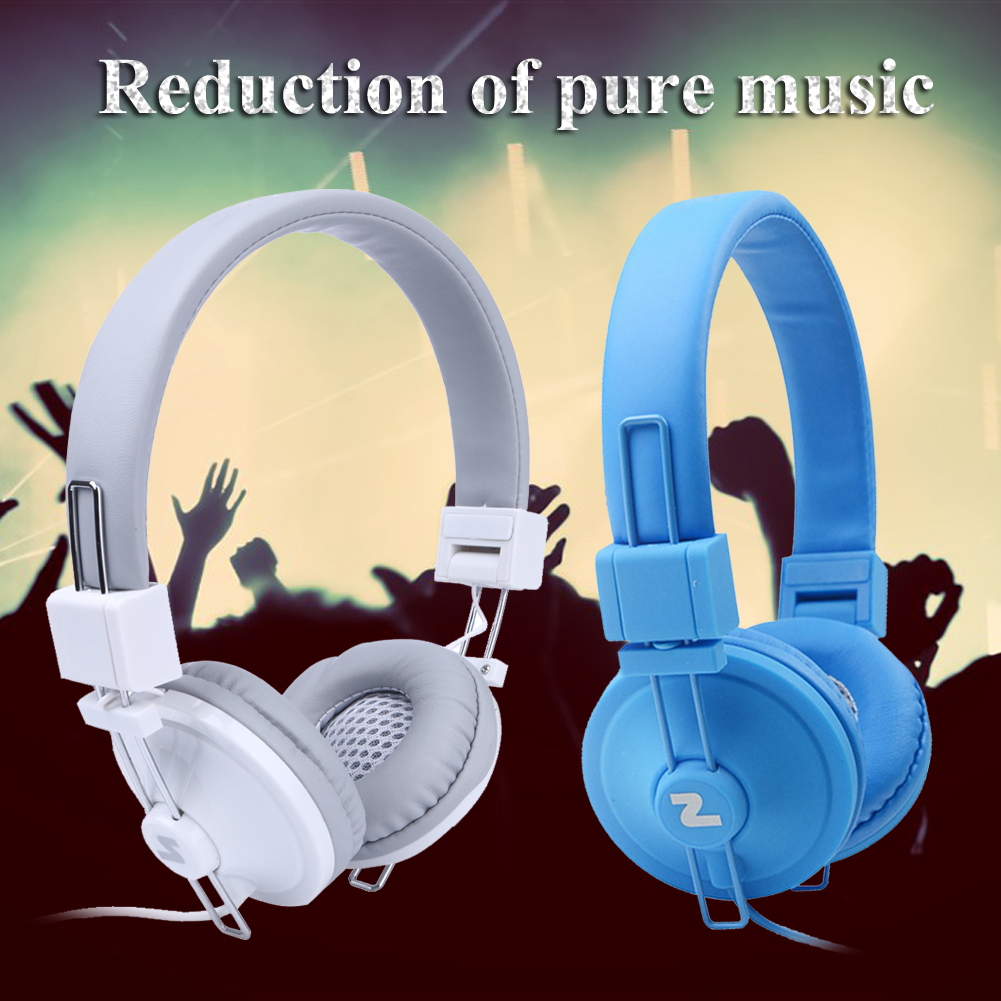 3.5mm Folding Audio Big Earphone Headset  Noise Canceling Headphones Ear buds Head Phone with Mic for iPhone Samsung Huawei Etc earfun brand big headphones with mic