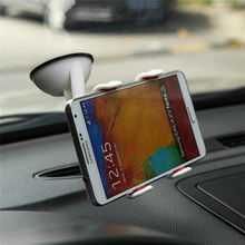 Universal Windshield Car Double Clip Phone Mount Holder Desktop Suction Cup Stand for iPhone Samsung Galaxy HTC Mobile Phone GPS