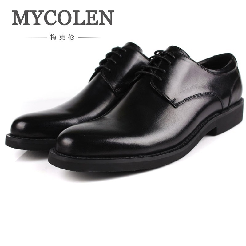 MYCOLEN Fashion Oxfords Men Cow Leather Brand Man Shoes Casual Genuine High Quality Soft Casual Breathable Men Shoes Handmade mycolen fashion brand men shoes winter handsome business casual shoes breathable men s leather shoes man derby sapato social