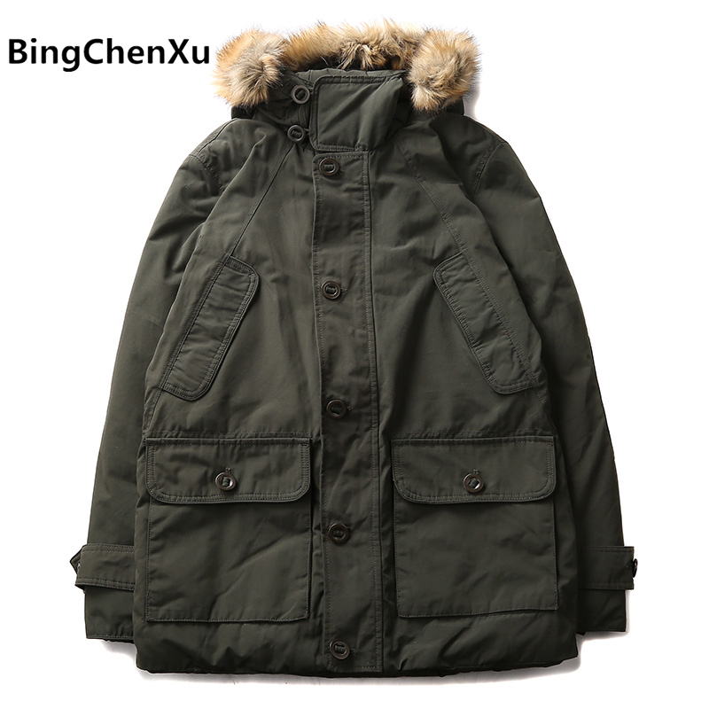 Winter Long Jacket Man Brand New Hooded Cotton-Padded Costs male Thicken Warm Hoodies Parkas Coats Men Big Yards 577