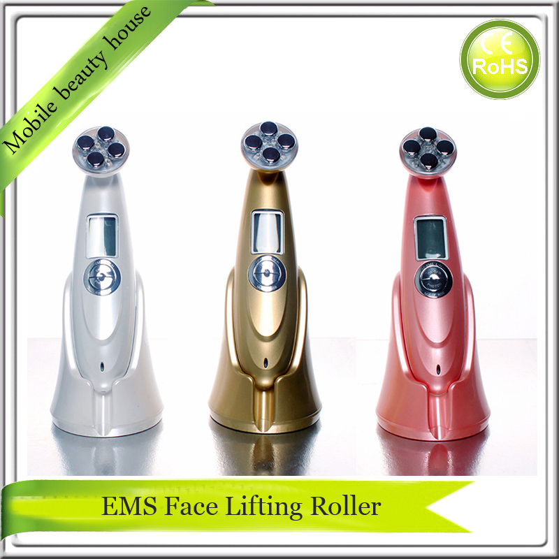 Rechargeable EMS RF Radio Frequency Skin Collagen Tightening Face Lift Led Photon Skin Rejuvenation Vibrating Beauty Instrument rechargeable rf radio frequency skin tightening ems face lift led photon skin rejuvenation beauty device free shipping