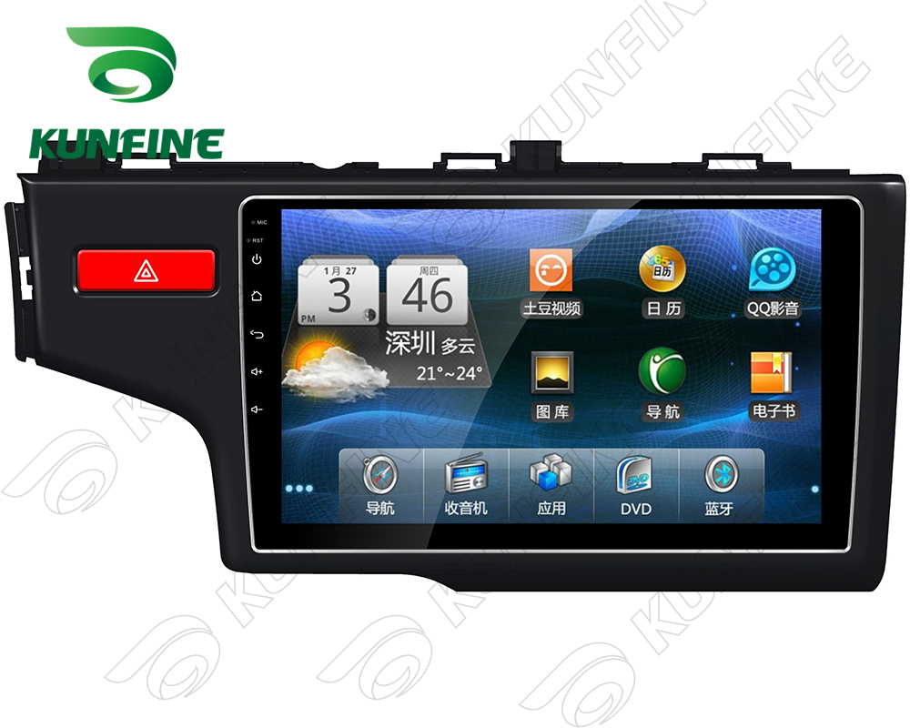 9 quad core 1024 600 android 5 1 car dvd gps navigation player deckless car stereo for honda fit 2014 radio bluetooth