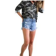 2019 hot global spring and summer new fashion high waist casual wear old tassel sexy slim womens denim shorts