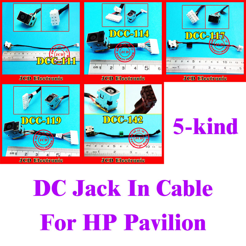все цены на  Mix 5 kinds Laptop DC Power Jack Cable for HP G62 G56 CQ62 CQ56 G72 CQ58 Series DC Jack Connector 7pin 6pin 9pin  онлайн