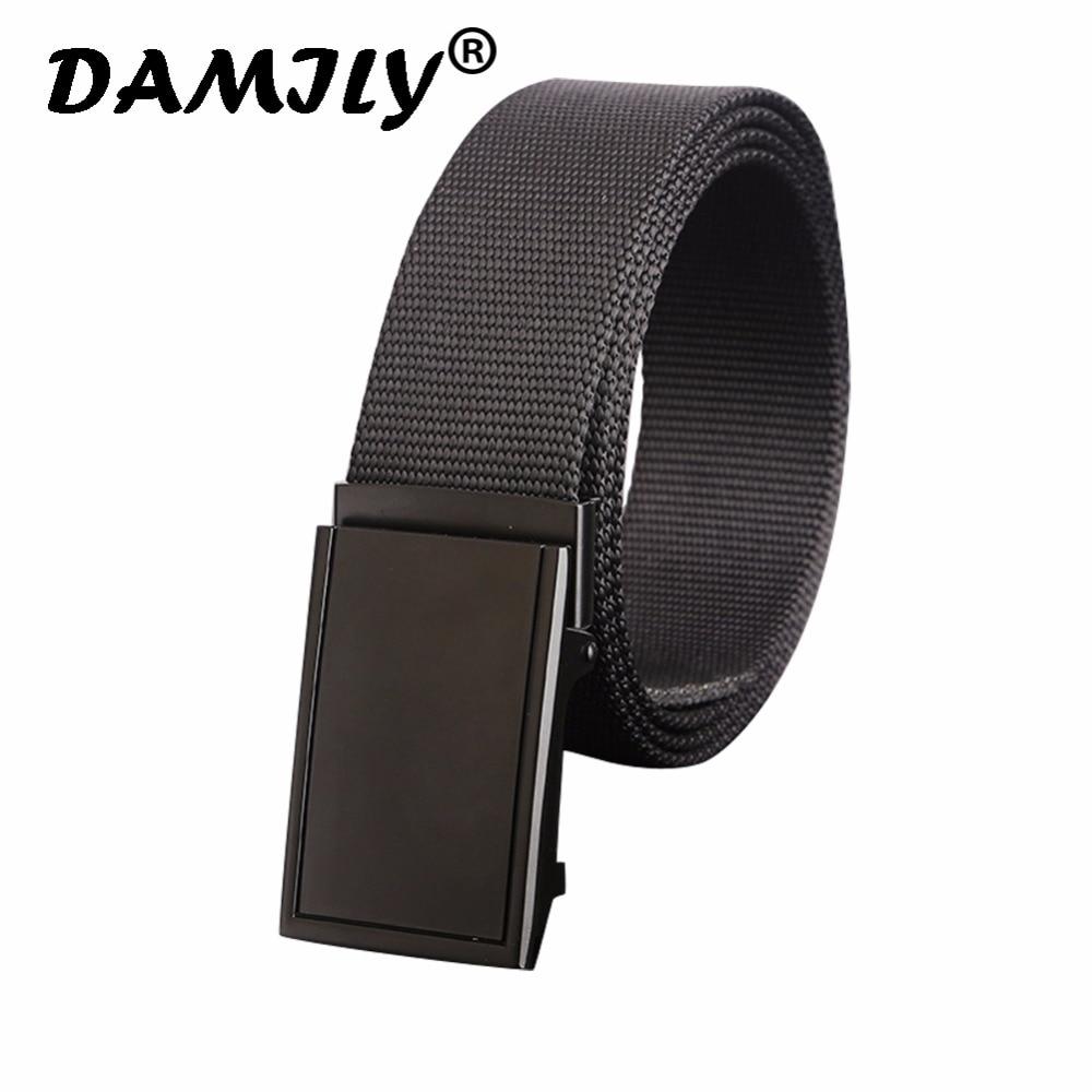 Luxury Men's Nylon Belt Automatic Buckle Army Tactical Belts Zinc Alloy Buckle Waist Canvas Belts High Quality Strap