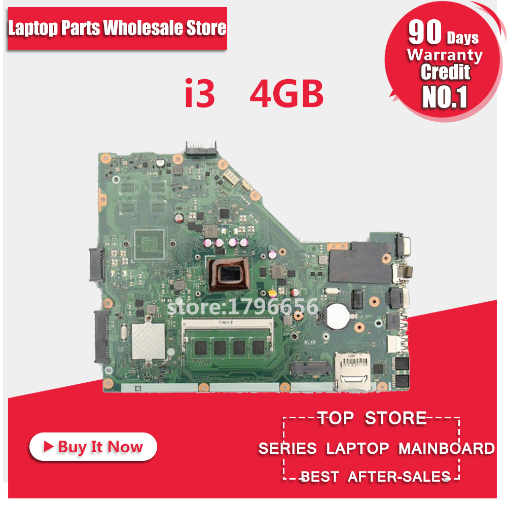 X55C carte mère REV3.1/3.2 i3-4GB RAM pour ASUS X55C X55VD ordinateur portable carte mère X55C carte mère X55C carte mère test 100% OK