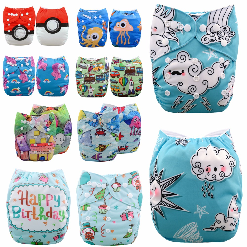 JinoBaby Modern Couche Lavable One Size Pocket Cloth Diapers One Size For NB To 13KG