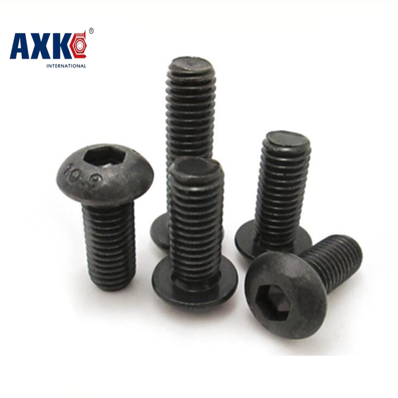 Vis Parafusos Axk 100pcs Grade 10.9 Iso7380 M2*3/4/5/6/8/10/12/14/16/18/20 2mm Button Head Hex Socket Screws Steel With Black 5 3 2mm osc 5032 19 6608m 19 6608mhz page 6