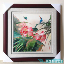 Suzhou embroidery finished silk 100% products hanging paintings pure manual for living room restaurant